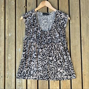 The Limited Patterned Blouse Tank Top, Size M